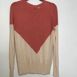 41 Hawthorne sweater button down back color block
